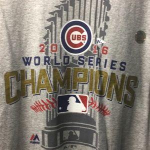 Majestic Men's Gray Cubs 2016 World Series T-Shirt